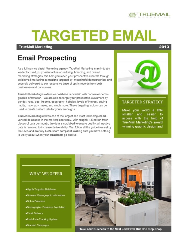 Targeted Email and Prospect Emailing